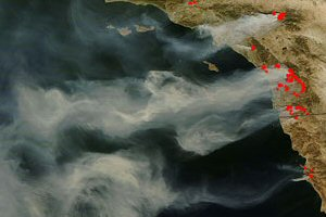 NASA-Bilder: Waldbrand in Californien