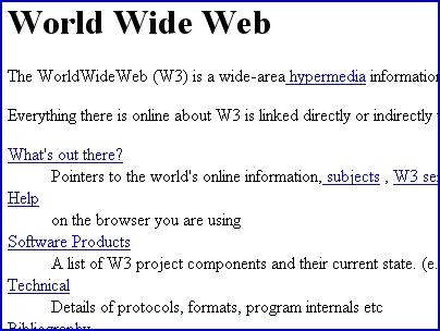Erste Internet-Seite im WWW