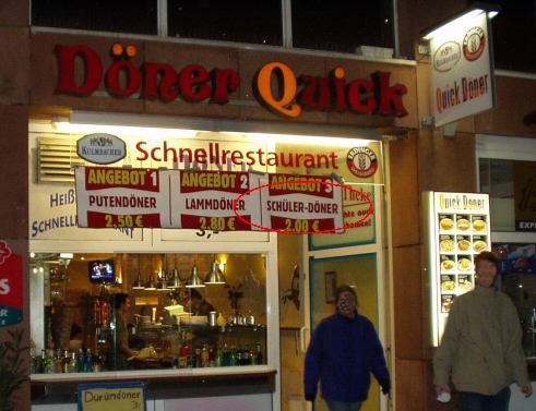 Schüler-Döner in Nürnberg