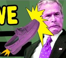 Schuhe auf George W. Bush in Bagdad