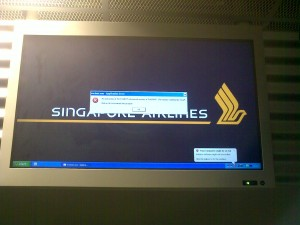 singapor airlines application error