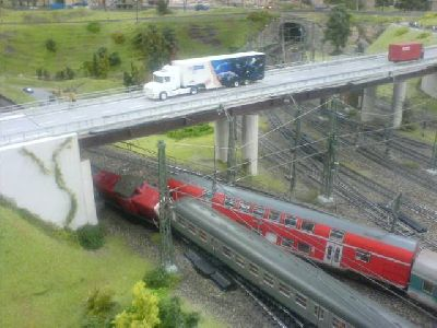 Miniatur-Wunderland Hamburg Crash in Knuffingen